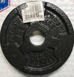 1 New Weider 2.5 Lbs Single Barbell Plate Cast Home Gym Weig