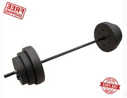 100lb Barbell Free Weights Home Gym Fitness Equipment Adjust