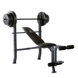 🔥 100 lb. Weight Set w/ Bar, Leg Developer, Adjustable Be