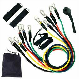 11 pc Resistance Bands Set Pull up Gym Home Fitness Booty Wo