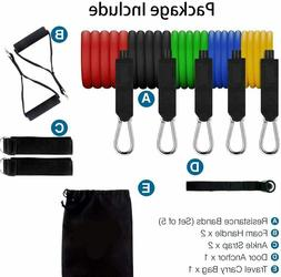 11pcs Resistance Bands Fitness Exercise Trength Training Hom