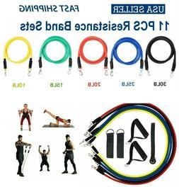 11PCS Resistance Bands Set Pull Rope Gym Home Fitness Workou