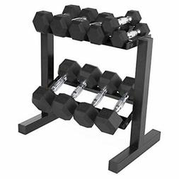 CAP Barbell 150-lb Hex Dumbbell Weight Set with Horizontal R