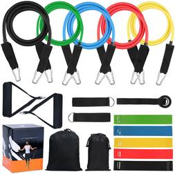 16 pc Resistance Band Set Resistance Training Home Gyms Work