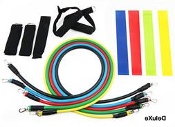 16 pc Resistance Bands Set 100 LB Pull Gym Home Fitness Work