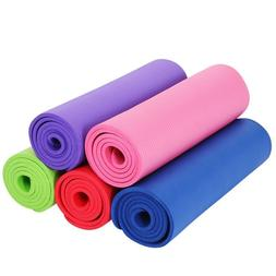 1x Non Slip Yoga Mats Pads 15mm Thickness For Home Gym Exerc