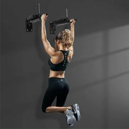 2 Psc Pull Up Bar Chin Station Wall Mounted Home Gym Exercis