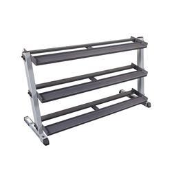 2-Tier Horizontal Low Profile Dumbbell Rack - Steel