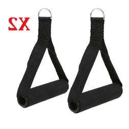 2x Tricep Rope Handle Cable Bar Attachment Resistance Exerci