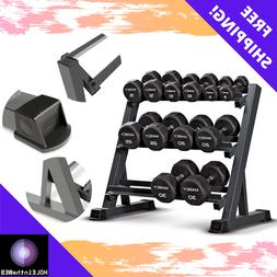 Marcy 3-Tier Dumbbell Rack Multilevel Weight Storage Organiz