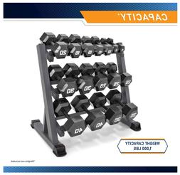 Marcy 3 Tier Metal Steel Home Workout Gym Dumbbell Weight Ra
