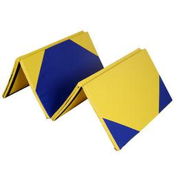 "4' x 10' x 2"" Hexagonal Splicing Thick Folding Panel Gymnast"