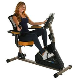 Exerpeutic 4000 Magnetic Recumbent Bike with 12 Workout Prog
