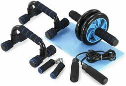 5-in-1 Ab Roller Wheel Workout Equipment Set Abdominal Exerc
