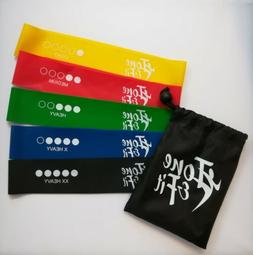 5 Resistance Bands with Bag Loop Exercise Yoga Fitness Home