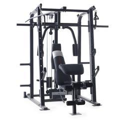 Weider 8500 Smith Cage Strength Trainer + Plate Storage Mult