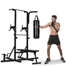 """86"""" Multi Function Full Body Power Tower Home Gym with Punch"""
