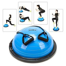 PEXMOR Yoga Half Ball Balance Trainer Exercise Ball Resistan