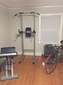 Power Tower Workout Dip Station Pull Up Gym Training Equipme