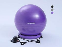 RGGD&RGGL Yoga Ball Chair, Exercise Balance Ball Chair 65cm