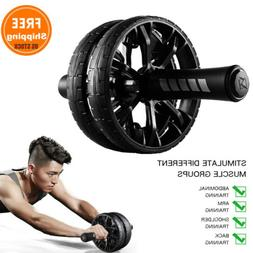 Ab Roller Exercise Dual Wheel Home Gym Workout Equipment Abd