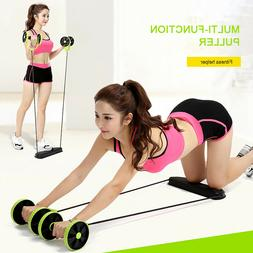 ABS Home Gym Equipment Fitness Roller Wheel Exercise Body Tr