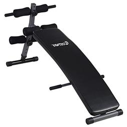 COSTWAY Adjustable Arc-Shaped Decline Sit up Bench Crunch Bo