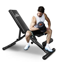FLYBIRD Adjustable Bench,Utility Weight Bench for Full Body