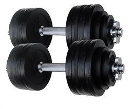 2 x 52.5 LBS Adjustable Cast Iron Dumbbells set. Total 105 l
