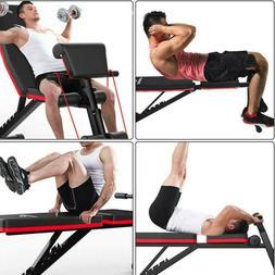 Adjustable Decline Incline Home Gym Weight Bench Sit UP ABDO