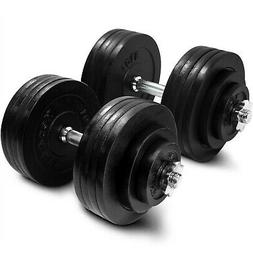 Yes4All Adjustable Dumbbell Set Weight Cap Fitness Gym - 200
