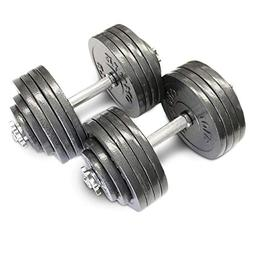 Omnie Adjustable Dumbbells with Gloss Finish and Secure Fit