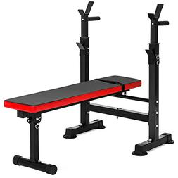 Best Choice Products Adjustable Folding Fitness Barbell Rack