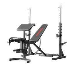 Adjustable Gym Olympic Workout Bench W/ Squat Rack & Preache