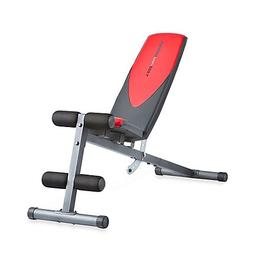 Weider Pro 225 L Adjustable Incline Bench | 4-roll leg lockd