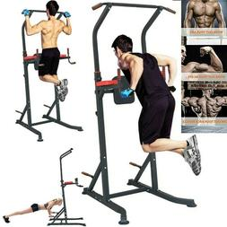 adjustable power tower pull up dip station