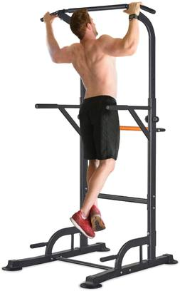 Adjustable Power Tower Pull Up Dip Station Home Gym Workout