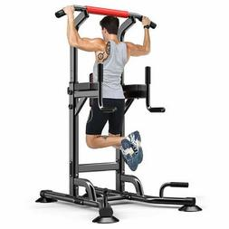 Adjustable Power Tower Station Dip Chin Up Bar Raise Pull Pu