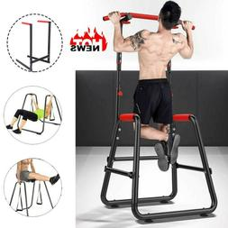 Adjustable Pull Up Chin Up Bar Dip Stand Power Tower Home Gy