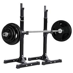 Yaheetech Pair of Adjustable Squat Rack Standard Solid Steel