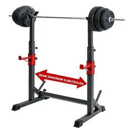 adjustable squat rack bench press power weight