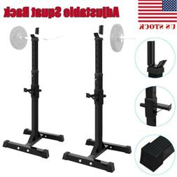 adjustable squat rack bench weight lifting press
