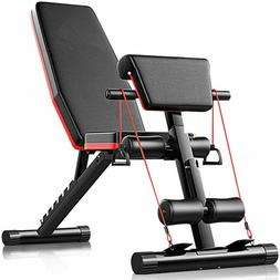 Adjustable Weight Bench Abs Sit Up Slant In Decline Workout