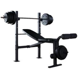 BENCH PRESS HOME GYM WORKOUT BENCH WEIGHT FITNESS BARBELL WE