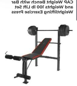Weight Bench Set by Sunny Health & Fitness - 100 Lbs