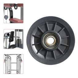 Black Bearing Pulley Wheel Gym Cable Equipment Strength Trai
