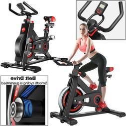 Black Exercise Stationary Bike Cycling Home Gym Cardio Worko