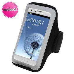 Black Sports Gym Walking Running Jogging Armband Case Phone