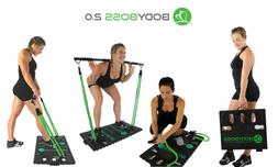 Body Boss Home Gym 2.0 Fold Up Portable Gym - Full Gym Worko