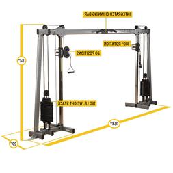 Body Solid Deluxe Cable Cross - 210 Lb. Weight Stacks - GDCC